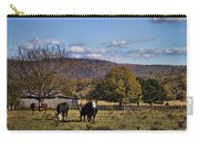 White Faced Cattle In Autumn Carry-all Pouch