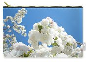 White Floral Blossoms Art Prints Spring Tree Blue Sky Carry-all Pouch