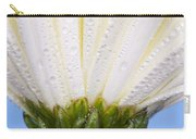 White Flower Head With Dew Carry-all Pouch