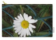 White Flower On The Fence Carry-all Pouch