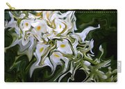 White Flowers 2 Carry-all Pouch