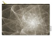 White Fractal Flower Carry-all Pouch