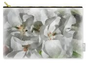 White Geraniums - Watercolor Carry-all Pouch