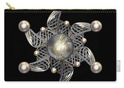 White Gold And Pearls Carry-all Pouch by Hakon Soreide
