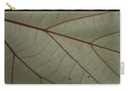 White Hau Leaf With Red Veins Carry-all Pouch