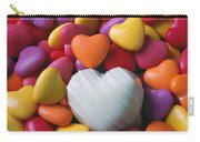 White Heart Candy Carry-all Pouch
