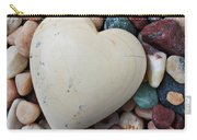 White Heart Stone Carry-all Pouch