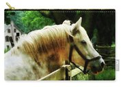 White Horse Closeup Carry-all Pouch