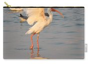 White Ibis With Wings Raised Carry-all Pouch