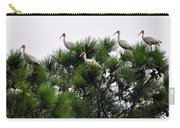 White Ibises Roosting Carry-all Pouch