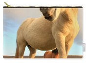 White Icelandic Horse, Iceland Carry-all Pouch
