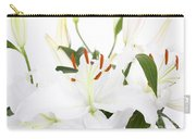 White Lilies And Background Carry-all Pouch