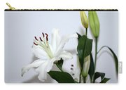 White Lily With Buds Carry-all Pouch
