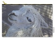 White Llama Carry-all Pouch