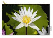 White Lotus Carry-all Pouch