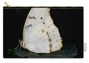 White Morpho Carry-all Pouch