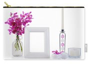 White Picture Frame In Decoration Carry-all Pouch by Atiketta Sangasaeng