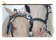 White Ponies Carry-all Pouch