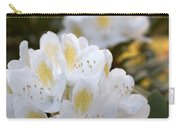 White Rhododendron Bloom Carry-all Pouch