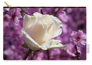 White Rose And Plum Blossoms Carry-all Pouch