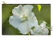 White Rose Of Sharon Carry-all Pouch by Teresa Mucha