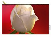 White Rose Red And Black Bg Carry-all Pouch
