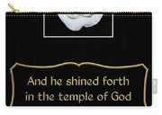 White Rose With Bible Verse From Sirach Carry-all Pouch