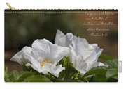 White Roses - Purge Me With Hyssop Carry-all Pouch