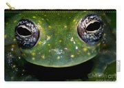 White Spotted Glass Frog Carry-all Pouch