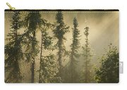 White Spruce In Mist At Sunrise Carry-all Pouch