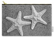 White Starfish In Black And White Carry-all Pouch
