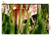 White Tailed Deer Fawn Hiding In Grass Carry-all Pouch