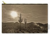 White Tanks Sunset 2 Sepia Carry-all Pouch