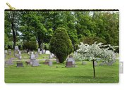White Tree In Cemetery Carry-all Pouch
