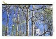 White Trees Against A Blue Sky Carry-all Pouch