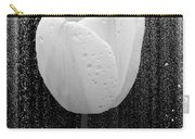 White Tulip On Black Carry-all Pouch