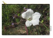 Small White Morning Glory Carry-all Pouch