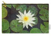 White Water Lily Carry-all Pouch by Andee Design
