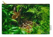 Whitetail Fawn And Ferns Carry-all Pouch