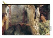 Who Is It Carry-all Pouch by Sir Lawrence Alma-Tadema