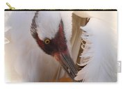 Whooping Crane Preening Carry-all Pouch