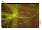 Wide Bands Of Soft Green Light Curve Around Each Other Carry-all Pouch