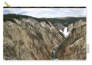 Wide View Of The Lower Falls In Yellowstone Carry-all Pouch