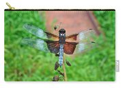 Widow Skimmer Dragonfly - Libellula Luctuosa Carry-all Pouch