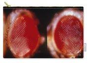 Wild & Vermillion Eyes Of Drosophila Carry-all Pouch