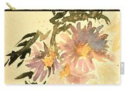 Wild Asters Aged Look Carry-all Pouch