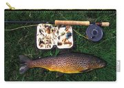 Wild Brown Trout And Fishing Rod Carry-all Pouch