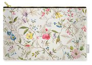 Wild Flowers Design For Silk Material Carry-all Pouch