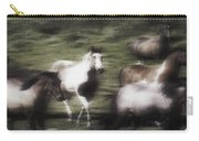 Wild Horses On The Move Carry-all Pouch
