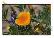 Wild Poppy And Lupine Carry-all Pouch